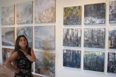 Studio visit with Fatemah Burns, photo credit: Gary Brewer.