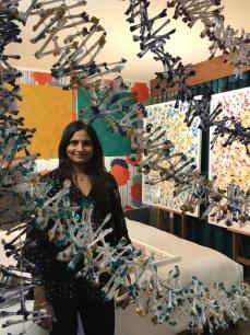 Uma Rani Iyli. StART Up Art Fair at The Kinney; Photo Credit Genie Davis