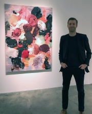 André Hemer at the opening of Making-image at Luis De Jesus. Photo credit: Genie Davis.