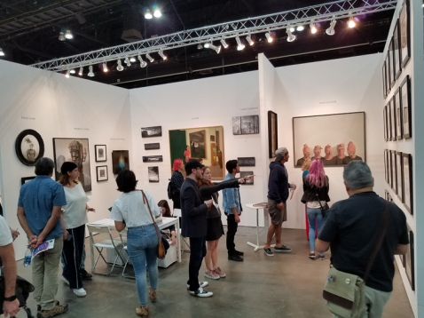 KP Projects. LA Art Show 2018. Los Angeles Convention Center. Photo Credit Kristine Schomaker