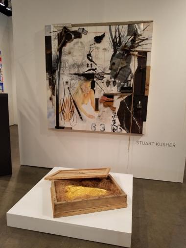 Stuart Kusher. LA Art Show 2018. Los Angeles Convention Center. Photo Credit Kristine Schomaker