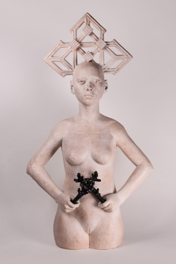 """La Negra Flor"" by Mauricio Cortes; Photo courtesy of saltfineart"