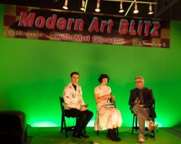 Dosshaus with Mat Gleason. LA Art Show 2018. LA Convention Center. Photo Credit Jack Burke