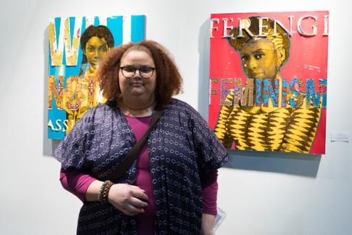 April Bey. LA Art Show 2018. LA Convention Center. Photo Credit Jack Burke