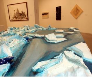 Virginia Katz, Artist as Scientist, Claremont Graduate University Art Building; Photo Credit: Jill Carol