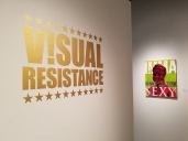 Visual Resistance at Fullerton College Art Gallery; Photo credit Kristine Schomaker