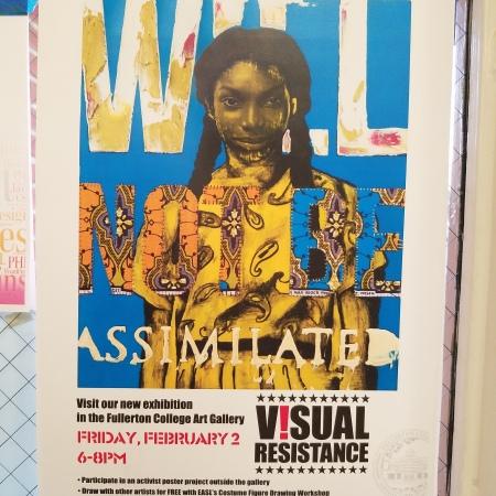 Visual Resistance at Fullerton College Art Gallery; Photo credit Kristine Schomaker