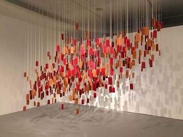 "Adriana Corral, ""Voces de las Perdidas (Voices of the Lost)"", Names Printed in Black, LACE (Los Angeles Contemporary Exhibitions); Photo courtesy of the artist"