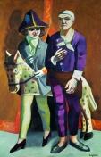 Max Beckmann: Doppelbildnis Karneval, Max Beckmann und Quappie, 1925, Stiftung Museum Kunstpalast, Düsseldorf, VG Bild-Kunst, Bonn 2018, Photo: ARTOTHEK, Weilheim/Stiftung Museum Kunstpalast