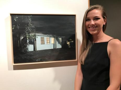 "Holly Elander, ""Solitary Shadows"" and ""Their Home"", Launch LA; Photo credit Genie Davis"