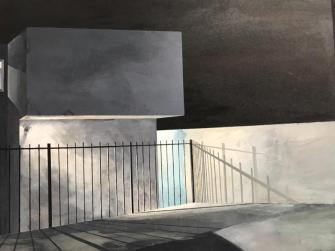 "Holly Elander, ""Solitary Shadows"" and ""Their Home"", Launch LA; Photo credit Genie Davis"