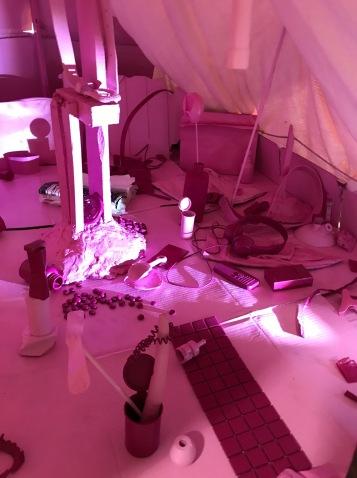Gravity will do its thing by Jennifer Celio in Salvage at Art Exchange Exhibition Space; Photo credit Genie Davis