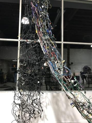 I Ching in America, Hexagram #32 by Chenhung Chen in Salvage at Art Exchange Exhibition Space; Photo credit Genie Davis