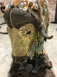 Musk Ox by Emily Maddigan in Salvage at Art Exchange Exhibition Space; Photo credit Genie Davis