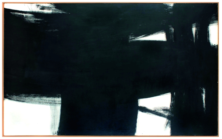Kenneth Kemble, Gran Pintura Negra 1960, A Tale of Two Worlds, Museum für Moderne Kunst, Frankfurt, Germany; Image courtesy of the museum
