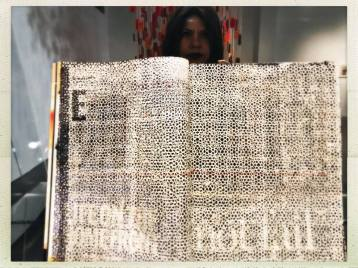 Samira Yamin, Names Printed in Black, LACE (Los Angeles Contemporary Exhibitions); Photo courtesy of the artist