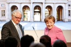Prof. Hasso Plattner and Dr. Angela Merkel, Museum Barberini, Photo: Franziska Krug