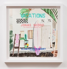 Vacations Jonas Wood Blum Poe _ Kordansky (2022), William Powhida, After 'After the Contemporary'; Image courtesy of Charlie James Gallery