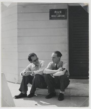 MAN RAY, Man Ray with Duchamp, 1948; © Man Ray Trust/Artists Rights Society (ARS)/ADAGP, Paris 2018. Image courtesy of Gagosian Gallery