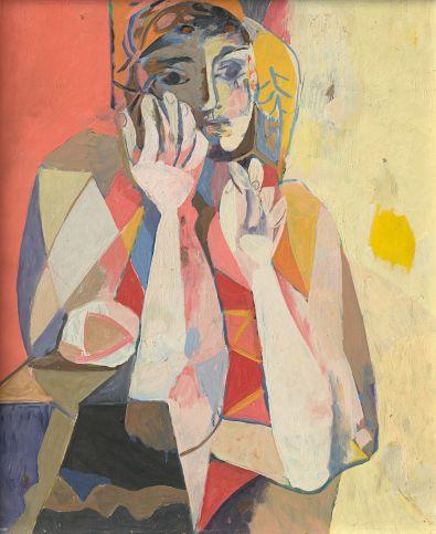 Willi Sitte: Woman Leaning, 1957, Museum Barberini, © VG BILD-KUNST, Bonn 2018