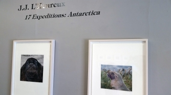 17 Expeditions Antarctica. JJ L'Heureux. Moorpark College Art Gallery. Photographs by Jennifer Susan Jones