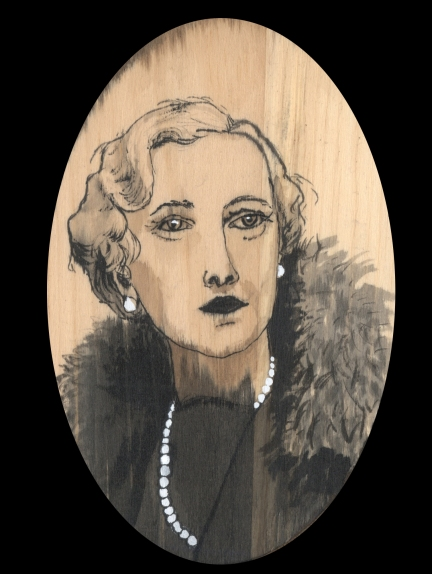 Agatha Christie by Red, the Artist, 100 Women and More, Soka University of America; Image courtesy of the artist