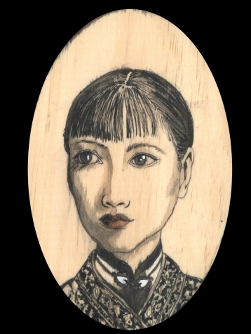 Anna May Wong by Red, the Artist, 100 Women and More, Soka University of America; Image courtesy of the artist