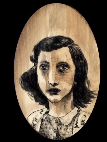 Anne Frank by Red, the Artist, 100 Women and More, Soka University of America; Image courtesy of the artist