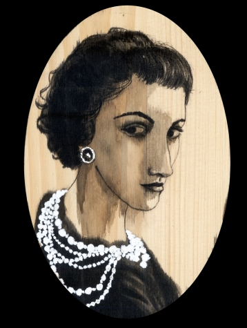 Coco Chanel by Red, the Artist, 100 Women and More, Soka University of America; Image courtesy of the artist