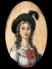 Élisabeth Louise Vigée Le Brun by Red, the Artist, 100 Women and More, Soka University of America; Image courtesy of the artist