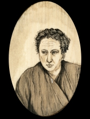 Gertrude Stein by Red, the Artist, 100 Women and More, Soka University of America; Image courtesy of the artist