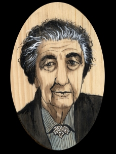 Golda Meir by Red, the Artist, 100 Women and More, Soka University of America; Image courtesy of the artist