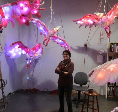 Studio Visit with Cynthia Minet by Gary Brewer; Photo Credit Gary Brewer