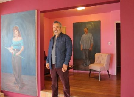 Studio Visit with Salomon Huerta; Photo credit Gary Brewer