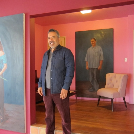 Studio Visit with Salomon Huerta; Photo credit Gary Brewer