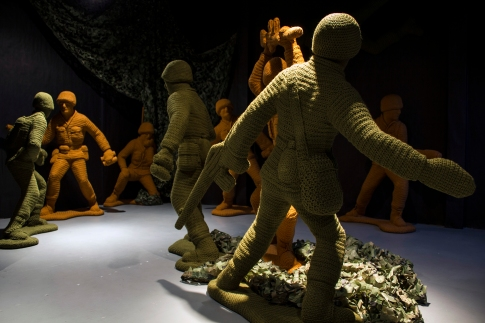 """Nathan Vincent, """"Let's Play War"""", Noysky Projects; Photo courtesy of the gallery"""