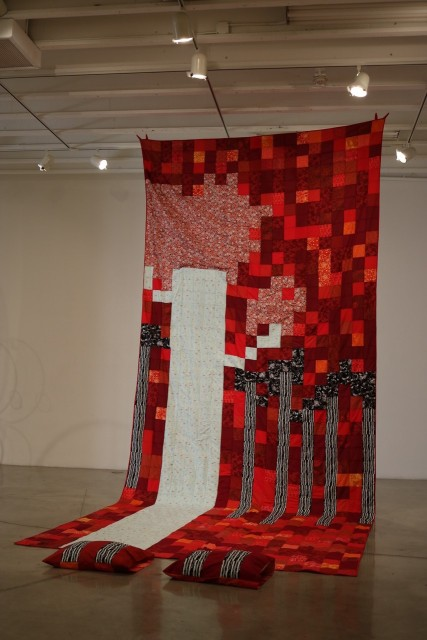 Madeline Arnault, Under the Covers, MFA Biennial, Brea Gallery; Photo courtesy of the gallery