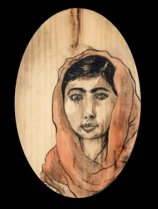 Malala Yousafzai by Red, the Artist, 100 Women and More, Soka University of America; Image courtesy of the artist