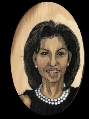 Michelle Obama by Red, the Artist, 100 Women and More, Soka University of America; Image courtesy of the artist