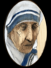 Mother Teresa by Red, the Artist, 100 Women and More, Soka University of America; Image courtesy of the artist