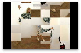 block dissassemble 2016 1 min 50 sec. Petra Cortright. Cam Worls. UTA Artist Space. Photo Courtesy UTA