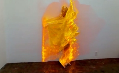 FIRE (FANTASTIC PLANET) 2016 1 min 8 secs. Petra Cortright. Cam Worls. UTA Artist Space. Photo Courtesy UTA