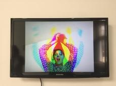 rgb,d-lay 2011 webcam video 24 seconds. Petra Cortright. Cam Worls. UTA Artist Space. Photo Courtesy Shana Nys Dambrot
