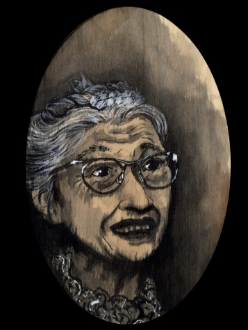 Rosa Parks by Red, the Artist, 100 Women and More, Soka University of America; Image courtesy of the artist