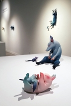 Erika Sanada: Meet Me Halfway at Corey Helford Gallery. Photo credit: Kristine Schomaker.