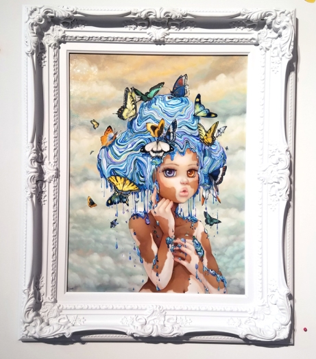 Camilla D'Errico: Sky at Corey Helford Gallery. Photo credit: Kristine Schomaker.