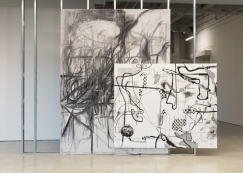 """Albert Oehlen and Peppi Bottrop: Line Packers"""" Photo courtesy Marciano Art Foundation."""