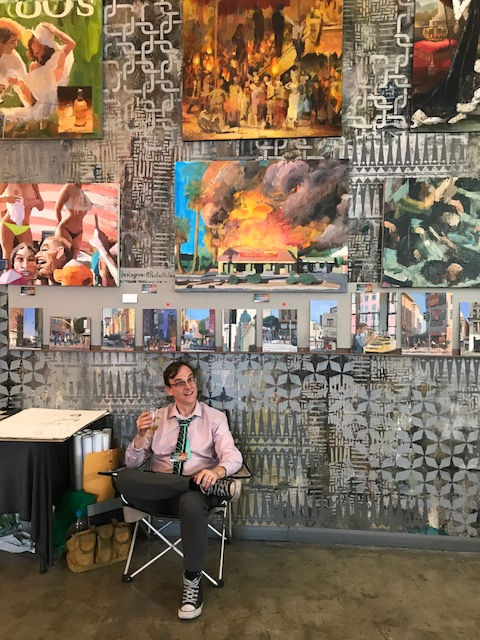 Alex Schaefer. Brewery Artwalk. Spring 2018. Photo Credit Genie Davis