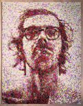 Chuck Close at CMay Gallery. Photo courtesy of the gallery.