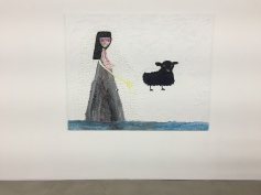 Ecaterina Vrana, Princess with Black Sheep, Nicodim Gallery, Photo credit: Shana Nys Dambrot.